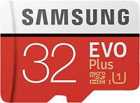 SAMSUNG Evo Plus, 32 GB, Mini SD Micro-SDHC Speicherkarte, 95 MB/s
