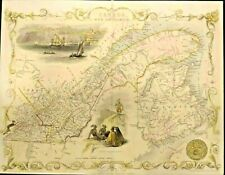 Antique Map of East Canada and New Brunswick1850
