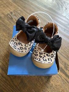 NIB Stride Rite soft motion SM esme leopard mary jane shoes 3 4 5 medium