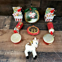 Lot Of 7 Vintage Christmas Ornaments Mid Century
