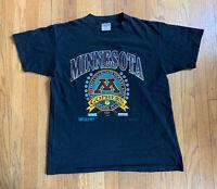 Vintage 90's Single Stitch Minnesota Golden Gophers Hockey Members T Size L