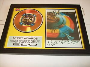 ELO    SIGNED  GOLD  DISC  Y