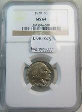 1929 Buffalo nickel NGC MS64 *DDR 003* BR
