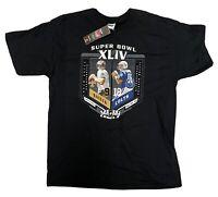 Super Bowl XLIV Saints Drew Brees vs Colts Peyton Manning T-Shirt Size L NFL