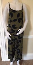 GAP Women's Cropped Wide Leg Overall XL Size Print NWT
