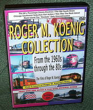 "20143 TRAIN VIDEO DVD BOX SET ""ROGER KOENIG COLLECTION"" ROCK ISLAND,CNW"