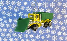 Custom Christmas Ornament Snow Plow Dump Truck Construction