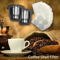 Stainless Steel Refillable Coffee Capsule Cup Reusable Filter Pod for Nespresso
