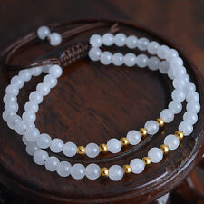 New Arrival 24K Yellow Gold Beads with White Jade beads Bracelet 17cm Length
