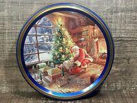 THOMAS KINKADE Christmas Santa Claus 5.25 inch Cookie Tin  COLLECTABLE Empty 4oz