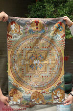 "36"" Tibet Buddhism Silk Cloth Mandala-Sacred Geometry Thangka Painting Mural"