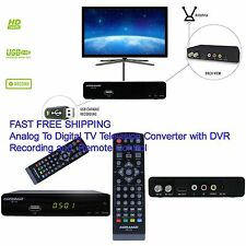 Television Converter Analog To Digital TV Box with DVR Record Remote Control HD