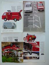 Prospekt Fiat Programm mit 128 Coupe, 850T, 4.1973, 8 Seiten, englisch für UK