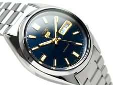 Seiko 5 Automatic Mens Watch Blue Dial See Through Back SNX799K UK Seller