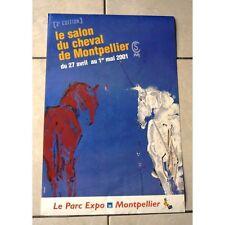 Affiche SALON DU CHEVAL DE MONTPELLIER 2001 Parc Expo Montpellier 2ème édition