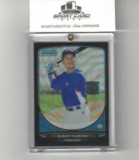 2013 Bowman Chrome ALBERT ALMORA Black Wave Refractor Rookie RC #TP-4 N/M Cubs.