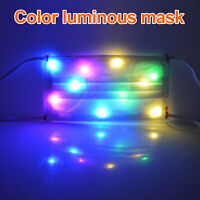 Unisex Adult Face Cover Colorful Lights Flashing Mask For Bar Party Christmas