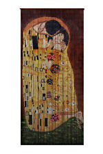 Bamboo Beaded Curtain Hand Painted-The Kiss