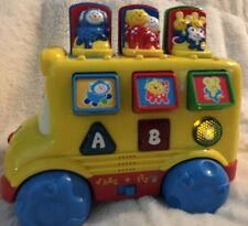 1999 Fisher Price Baby Smartronics Nursery Rhymes School Bus Music PopUp ABC 123
