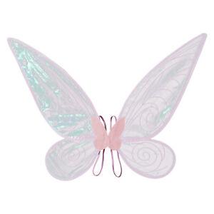 Kids Girl Butterfly Foldable Glitter Fairy Angel Wings w/Elastic Shoulder Strap