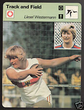LIESEL WESTERMANN Germany Discus Track & Field 1979 SPORTSCASTER CARD 79-09