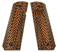 Custom 1911 GRIPS Full Size Spec Ops by LOK Grips Orange/Blk G10 Smith & Wesson