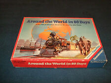 AROUND THE WORLD IN 80 DAYS FAMILY BOARD GAME BY RAVENSBURGER 1987