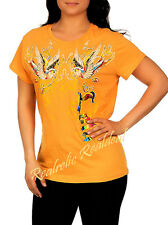 "NEW 2X 1X 42 -44"" BRIGHT BOLD Lola LOVE Birds Tee Shirt Knit Top FUN Time Blouse"