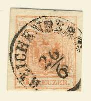 """AUTRICHE / AUSTRIA - ca.1850 Mi.3.X used """" REICHENBERG """" (Bohm., Czech LIBEREC)"""