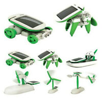 6 in 1  DIY Creative Educational Learning Power Solar Robot Kit Kid Children Toy