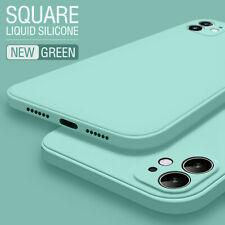 For iPhone 11 Pro Max 12 Pro XS XR 8 7 Liquid Silicone Skin Soft TPU Case Cover