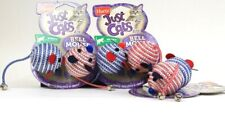 3 Hartz Just For Cats Swat Play Pattern Coordination 2 Ct Bell Mouse Cat Toy