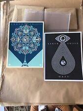 Shepard Fairey Obey Eath Crisis 2 Book Art Print Set Signed 2016 RARE