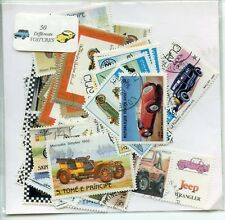 LOT DE 50 TIMBRES THEMES /// VOITURE / AUTOMOBILE //  DIFFERENTS