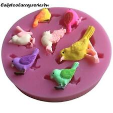 Bird Silicone Mould for Fimo Sugarcraft Cupcake Toppers Decorating Cake