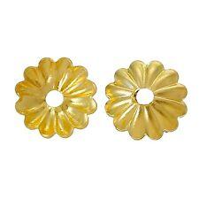 100x perlas tapas perlkappen remates flores para 6-8 mm perlas doradas