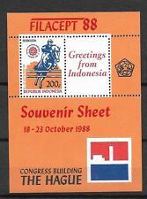 1988 MNH Indonesia Michel block 62A