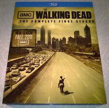 Walking Dead - First Season (Blu-ray Disc, 2011, 2-Disc) w/ Slipcover Like New