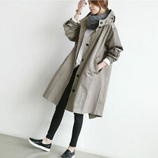 Womens Oversized Loose Coat Button Down Hip Long Hoodie Jacket Maternity Outwear