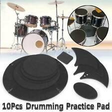 10x Bass Snare Drums Mute Silencer Drumming Practice Pad Set Soundoff/Quiet Beam