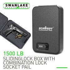 """9.5"""" Portable Security Case Lock Box Safe Combination Lock 1500Lb Cable Gun Safe"""