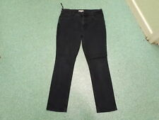 "Per Una Slim Leg Jeans Size 16 Leg 30"" Black/Blue Faded Ladies Jeans"