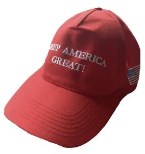 KEEP AMERICA GREAT Basecap mit USA Fahne DONALD TRUMP 2020 US Wahl Rot