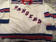 NY RANGERS WHITE CCM VINTAGE AUTHENTIC JERSEY SIZE XL NHL HOCKEY
