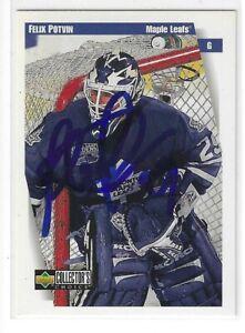 Felix Potvin Signed 1996/97 Upper Deck Card #252 Toronto Maple Leafs
