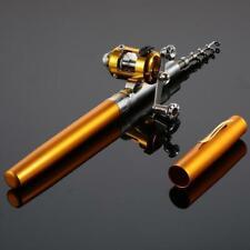 Mini Fishing Rod Bait Telescopic Portable Pocket Aluminum Alloy Pen Pole Reel