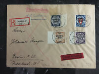 1940 Danzig Cover to Dresden Germany