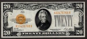 1928 $20 Gold Certificate, High Grade, NICE!!
