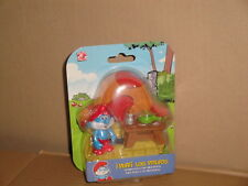 PAPA PITUFO Y SU LABORATORIO FIGURA LOS PITUFOS THE SMURFS BY JAKKS NEW IN CARD