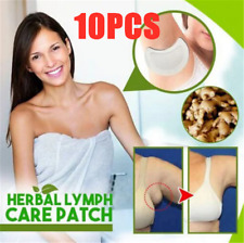 10Pcs Lymphatic Care Patch Herbal Lymph Care Patch Neck Anti-Swelling Sticker
